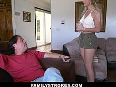 FamilyStrokes - yellowish hair youngster Making Her Stepdad joyous maturepornvideos