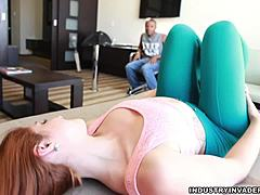 XY tramp ginger-haired hotel Interracial act of love HD