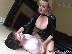 Wife sonia 34g breast smothered